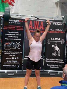 Lara Bennett - Runner Up, Best Junior Lifter - Clean & Press Behind Neck