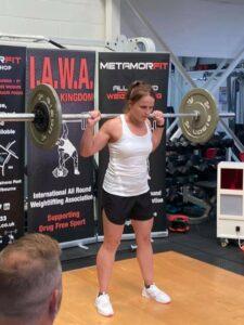Beata Banas - Best Female Lifter - Clean & Press Behind Neck
